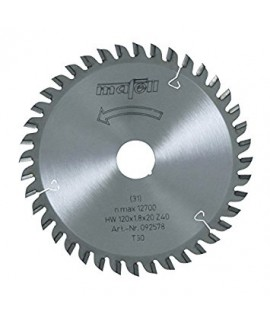 Hoja de sierra de HM 120 x 1,2/1,8 x 20 mm, Z 40