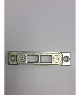 cerradero pasador para base lisa 18 con 2 agujeros plata