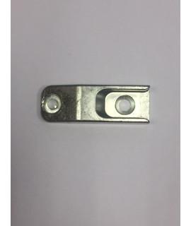 Cerradero bulón Base 18mm 2 atornillados plata