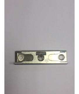 Cerradero de seguridad Base 18mm para atornillado inclinado plata